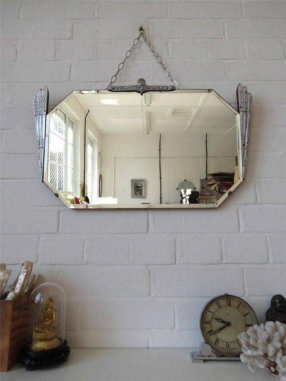 Inspiration about 52 Best Vintage Frameless Mirrors Images On Pinterest | Vintage Throughout Antique Frameless Mirrors (#8 of 20)