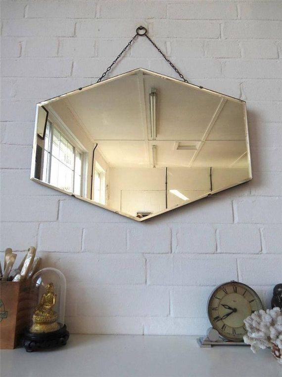 52 Best Vintage Frameless Mirrors Images On Pinterest | Vintage With Regard To Vintage Frameless Mirrors (#8 of 30)