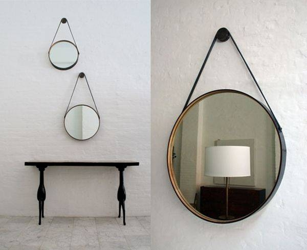 58 Best L Mirrors L Images On Pinterest | Mirror Mirror, Mirror Regarding Leather Round Mirrors (#4 of 20)