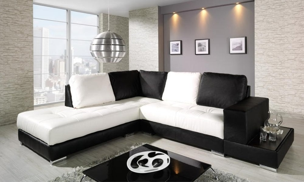 58 Black And White Sofa Sofas Sectionals Modern Black And White For White And Black Sofas (#1 of 15)