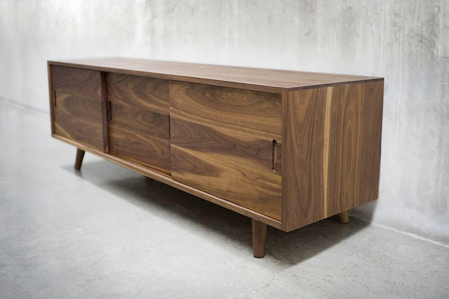Inspiration about 60 Solid Black Walnut Credenza/ Sideboard/ Cabinet/ Intended For Walnut And Black Sideboard (#6 of 20)