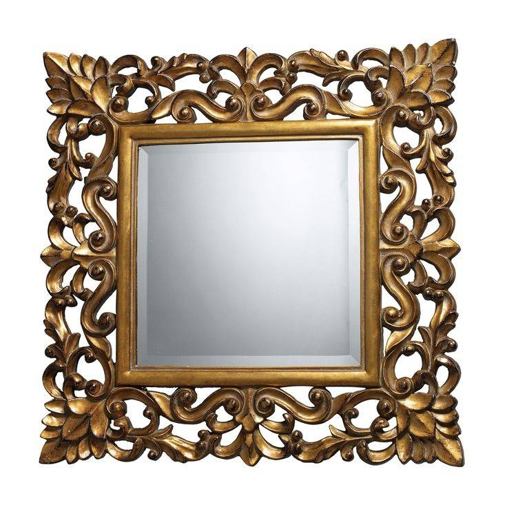61 Best Mirrors Images On Pinterest | Wall Mirrors, Decorative In Square Gold Mirrors (#6 of 20)