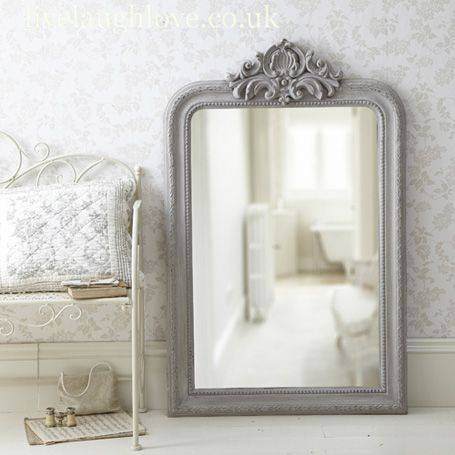 Inspiration about 63 Best Painted Mirrors Images On Pinterest | Mirror Mirror For Grey Vintage Mirrors (#1 of 20)