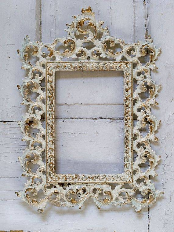 Inspiration about 64 Best Antique Frames Images On Pinterest | Antique Frames Within Cream Shabby Chic Mirrors (#17 of 30)