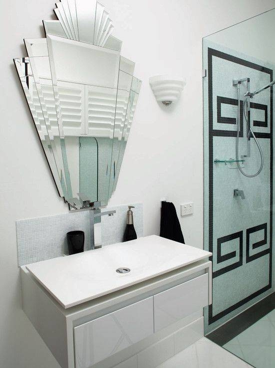 Inspiration about 64 Best Art Deco Bawths [=] Images On Pinterest | Art Deco With Regard To Art Deco Style Bathroom Mirrors (#5 of 20)