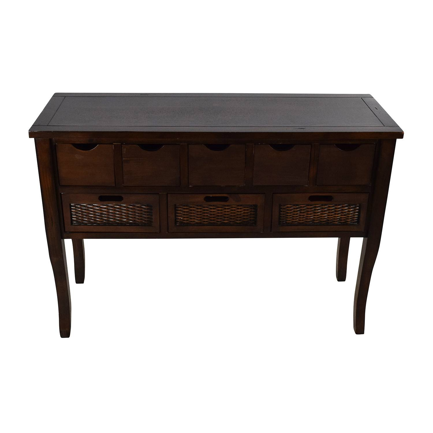 Inspiration about 65% Off – Unknown Brown Wood Multi Drawer Sideboard / Storage Throughout Multi Drawer Sideboard (#3 of 20)