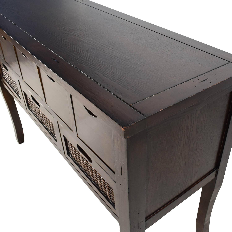 65% Off – Unknown Brown Wood Multi Drawer Sideboard / Storage Throughout Multi Drawer Sideboard (#3 of 20)