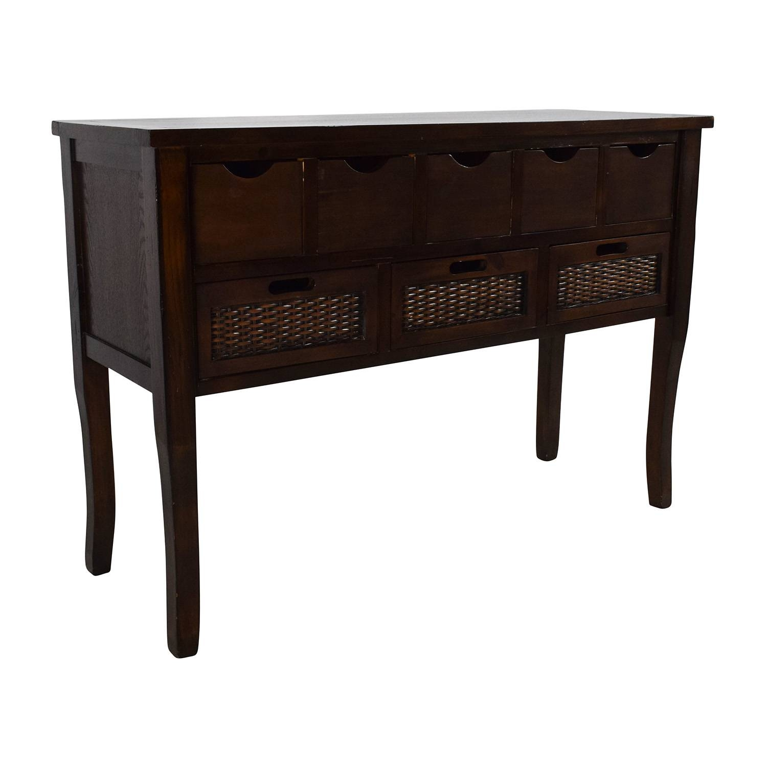 Inspiration about 65% Off – Unknown Brown Wood Multi Drawer Sideboard / Storage Throughout Multi Drawer Sideboard (#1 of 20)