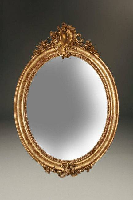 Inspiration about 66 Best Antique Mirrors Images On Pinterest | Antique Mirrors With Regard To French Oval Mirrors (#17 of 30)