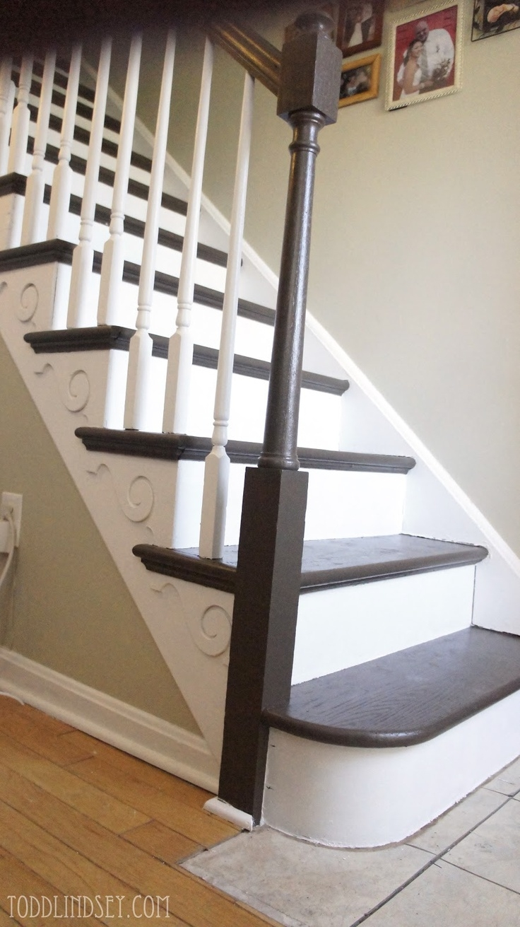 67 Best Stairs Images On Pinterest Stairs Basement Stairs And Home Within Brown Stair Treads (#2 of 20)