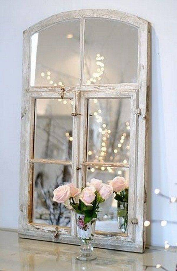 Inspiration about 672 Best Decorating With Old Window Frames Images On Pinterest Inside Shabby Chic Window Mirrors (#1 of 20)