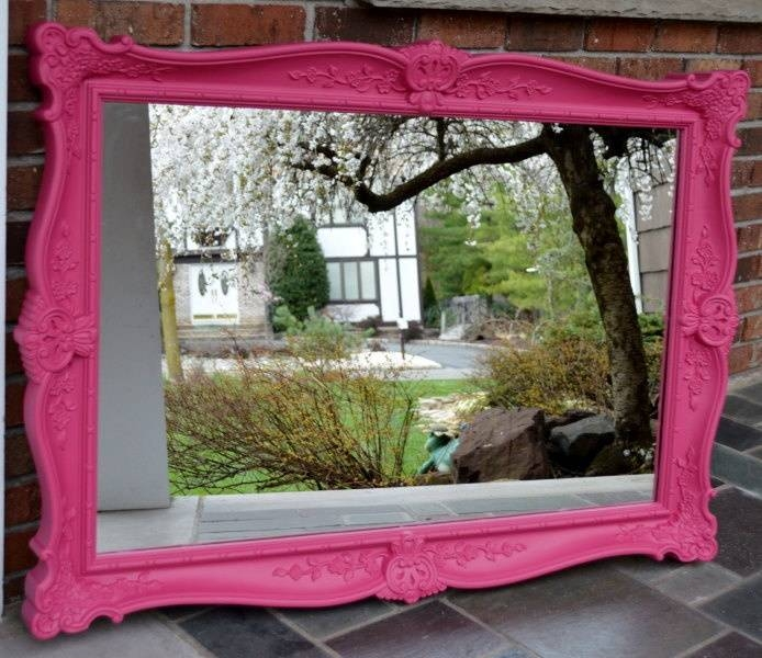 Popular Photo of Large Pink Mirrors