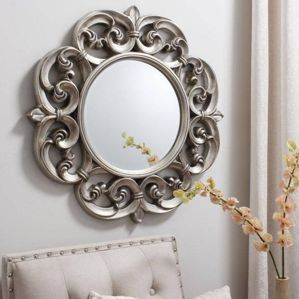 68 Best Mirrors Images On Pinterest | Mirror Mirror, Mirror And Throughout Pewter Ornate Mirrors (View 6 of 30)