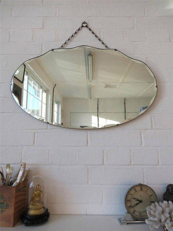 Inspiration about 684 Best Vintage Mirrors Images On Pinterest | Vintage Mirrors Intended For Large Glass Bevelled Wall Mirrors (#14 of 20)