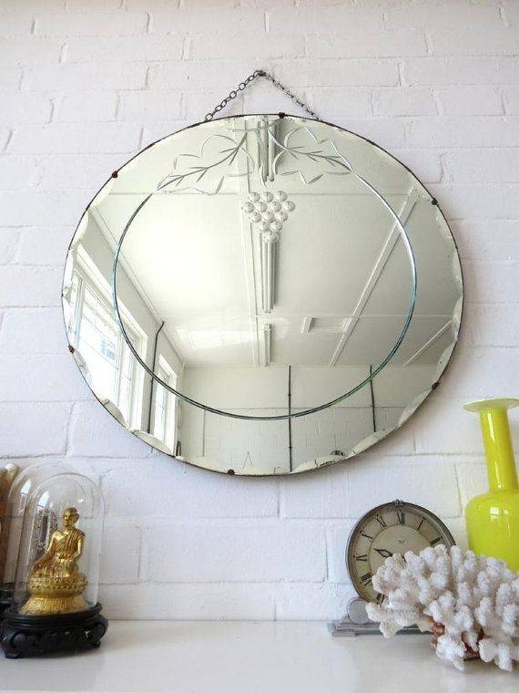 Inspiration about 684 Best Vintage Mirrors Images On Pinterest | Vintage Mirrors Regarding Round Bevelled Mirrors (#8 of 20)