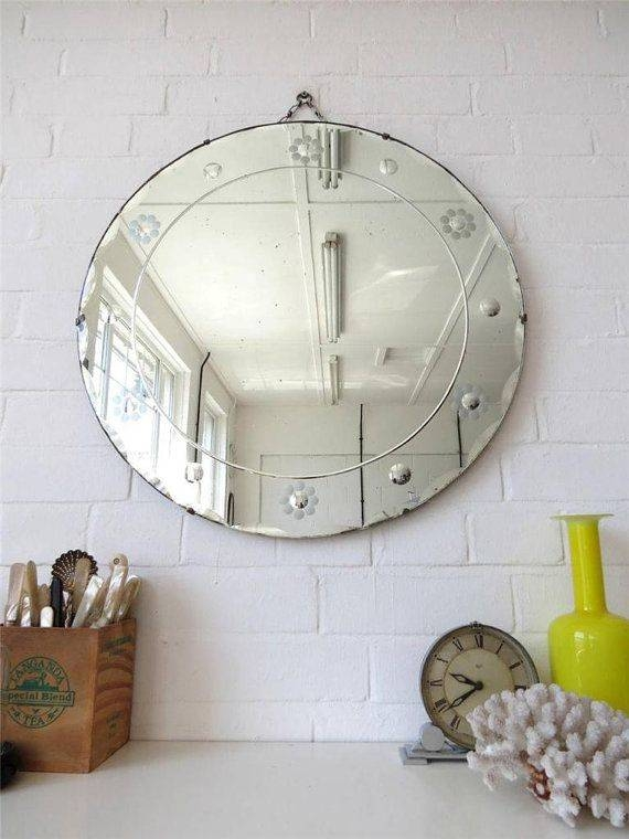 684 Best Vintage Mirrors Images On Pinterest | Vintage Mirrors Regarding Vintage Frameless Mirrors (#9 of 30)