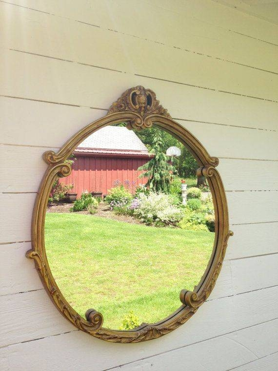 684 Best Vintage Mirrors Images On Pinterest | Vintage Mirrors With Shabby Chic Gold Mirrors (#12 of 30)