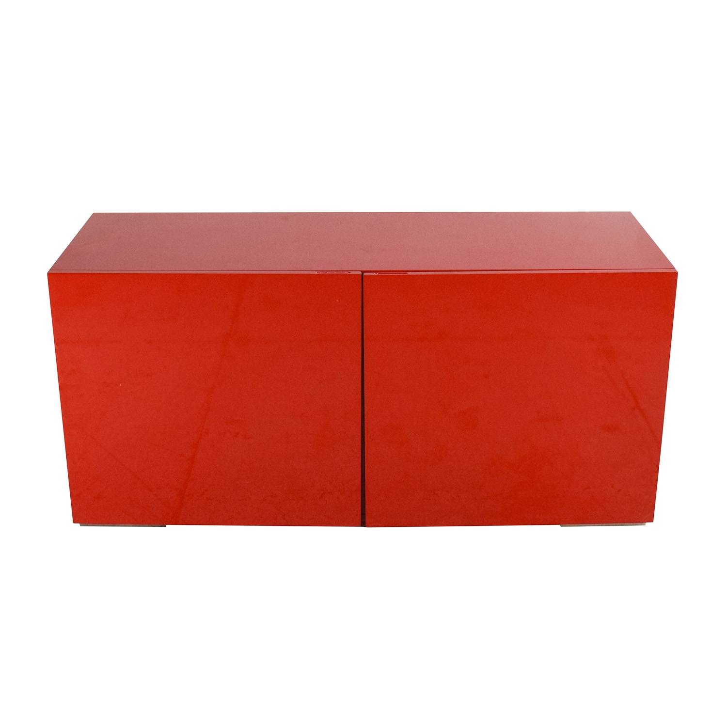 Inspiration about 69% Off – Cb2 Cb2 Fuel Credenza In Red / Storage Within Red Sideboards (#11 of 20)