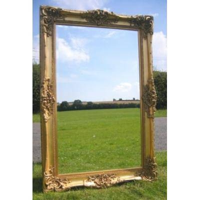 Inspiration about 6Ft X 4Ft Large Gold Gilt Monaco Leaner Mirror – Ayers & Graces With Gilt Edged Mirrors (#5 of 20)