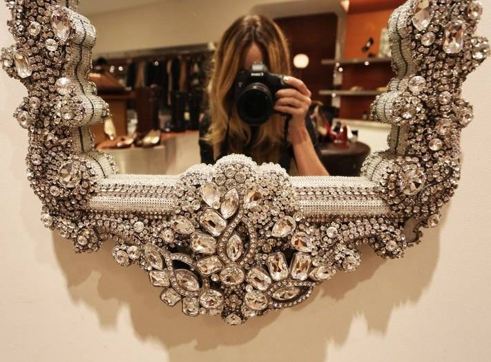 7 Best Mirrors Images On Pinterest | Mirror Mirror, Wall Mirrors Pertaining To Glitter Wall Mirrors (#6 of 30)