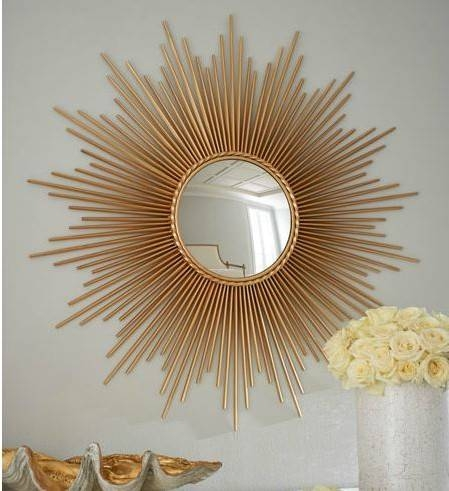 7 Super Size Sunburst Mirrors – Big Statement Pieces For Your With Large Sunburst Mirrors (#4 of 20)