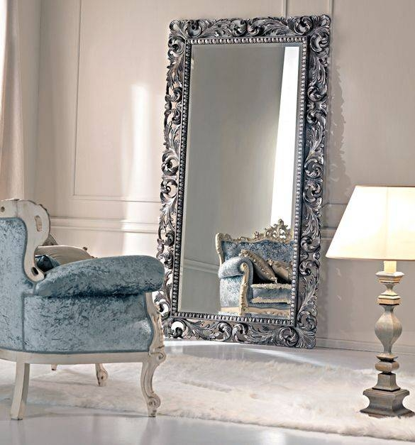 70 Best Silver Gilded Mirror Images On Pinterest | Mirror Mirror Intended For Big Silver Mirrors (#3 of 20)