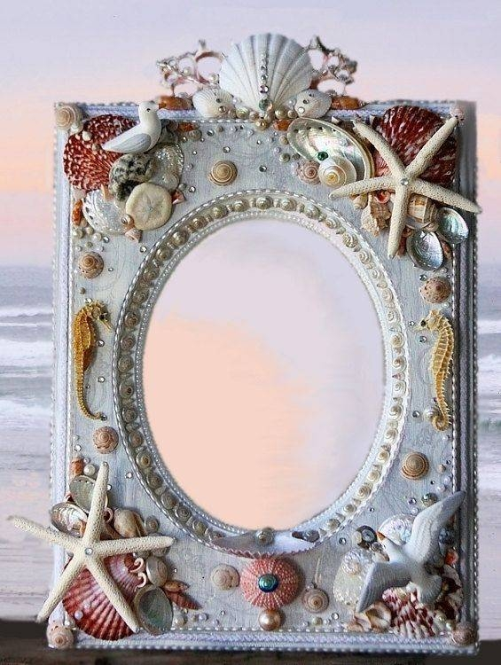 74 Best Seashell Mirrors Images On Pinterest | Shells, Seashell Throughout Embellished Mirrors (#14 of 30)