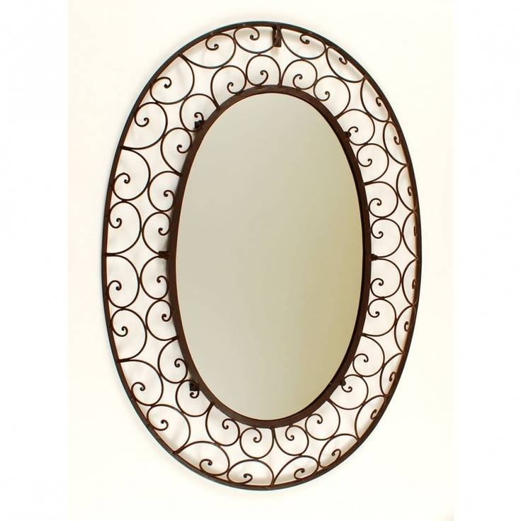 75 Best Espejos Images On Pinterest | Wrought Iron, Irons And Mirrors Regarding Wrought Iron Bathroom Mirrors (#9 of 30)