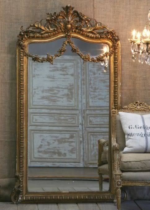77 Best My Fav Gold Ornate Mirrors Images On Pinterest | Mirror With Vintage Large Mirrors (#9 of 30)