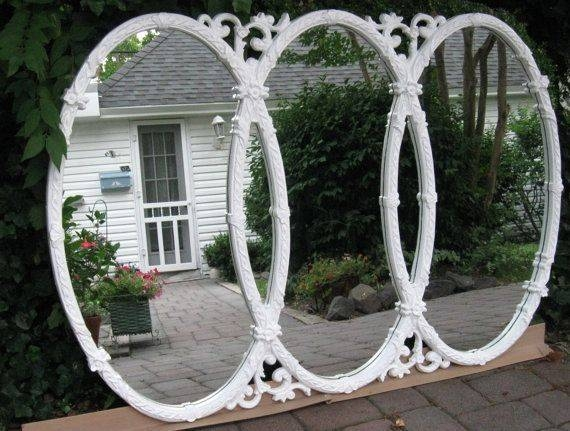 77 Best Vintage Mirrors Images On Pinterest | Mirror Mirror Pertaining To Triple Oval Wall Mirrors (#6 of 20)