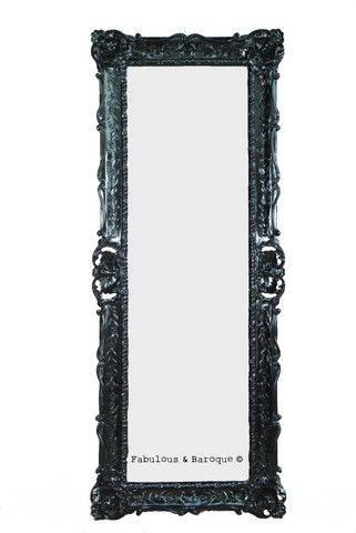 8 Best Leaning Mirror Images On Pinterest | Mirror Mirror, Leaning Intended For Black Baroque Mirrors (View 20 of 20)