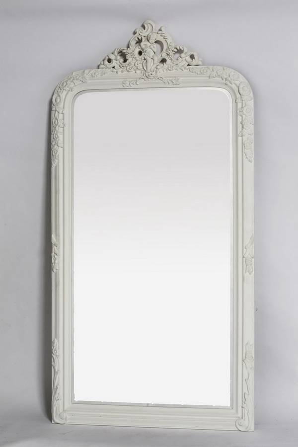 8 Best Leaning Mirror Images On Pinterest | Mirror Mirror, Leaning Regarding Large White French Mirrors (#11 of 30)