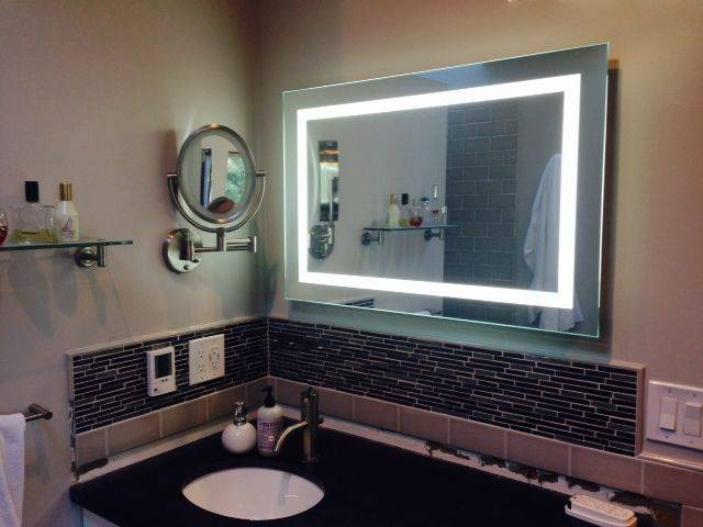 8 Best Lighted Image – Led Bordered Illuminated Mirror – Large Throughout Large Illuminated Mirrors (#1 of 30)