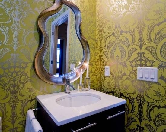 Popular Photo of Funky Mirrors For Bathrooms
