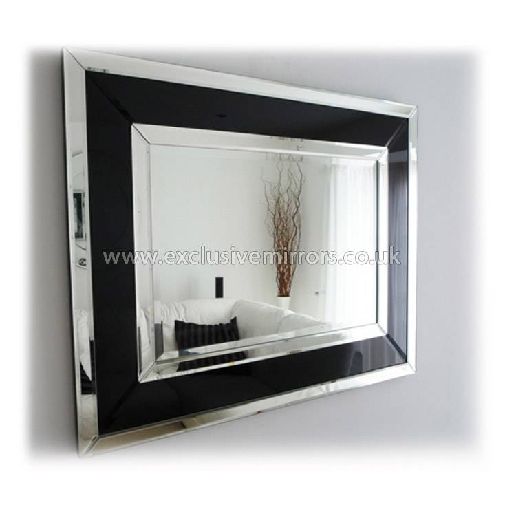 8 Modern Mirror Wall Art, Matuta Modern Mirrored Wall Art All With Black Large Mirrors (#3 of 20)