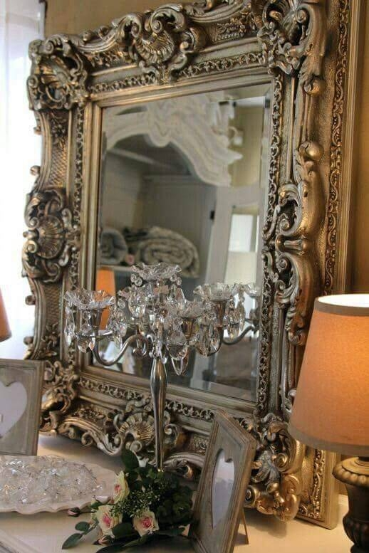 827 Best Mirrors Images On Pinterest | Mirror Mirror, Vintage With Regard To French Vintage Mirrors (#5 of 20)