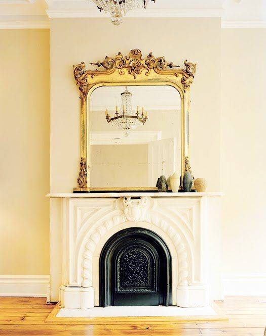 83 Best Mirrors Images On Pinterest | Mirror Mirror, Antique Throughout Gold Mantle Mirrors (#8 of 30)