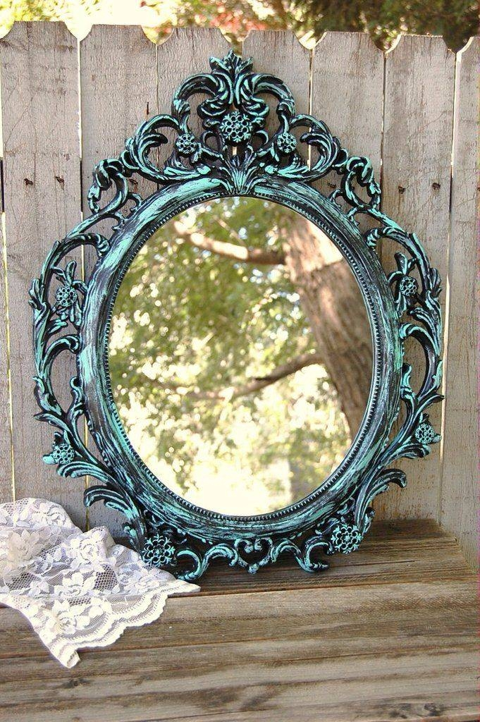 836 Best Mirrors And Wallpaper Images On Pinterest | Mirror Mirror In Black Shabby Chic Mirrors (#11 of 20)