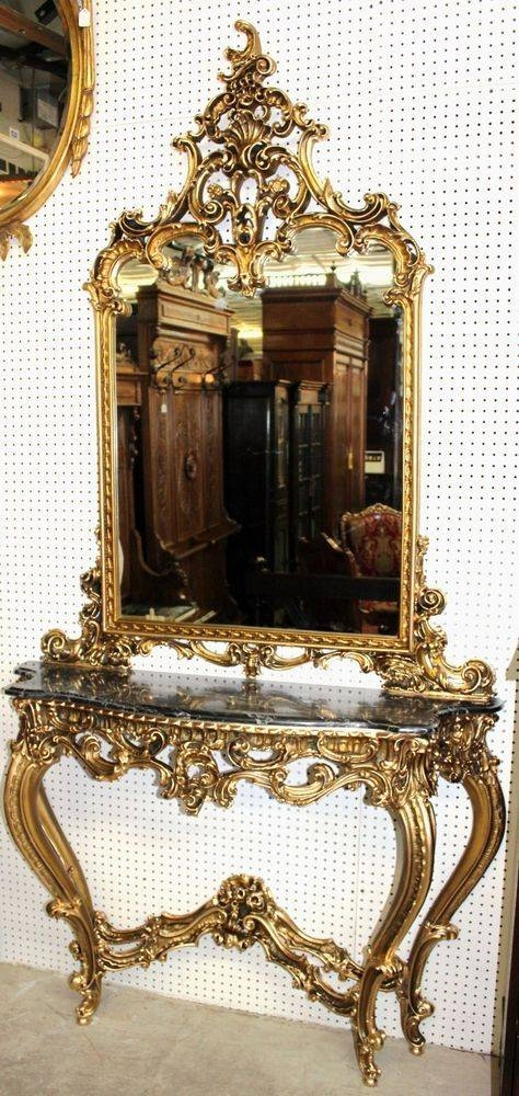 836 Best Mirrors And Wallpaper Images On Pinterest   Mirror Mirror Throughout French Gold Mirrors (#8 of 20)