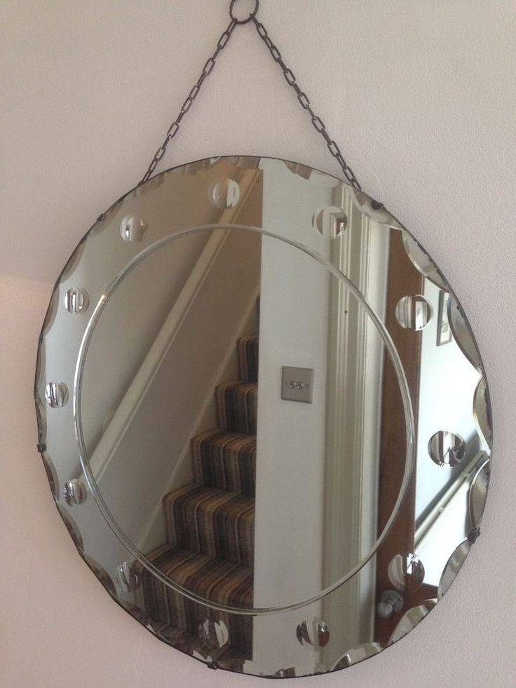 85 Best Frameless Mirrors Images On Pinterest   Mirror Mirror Pertaining To Round Antique Mirrors (View 22 of 30)