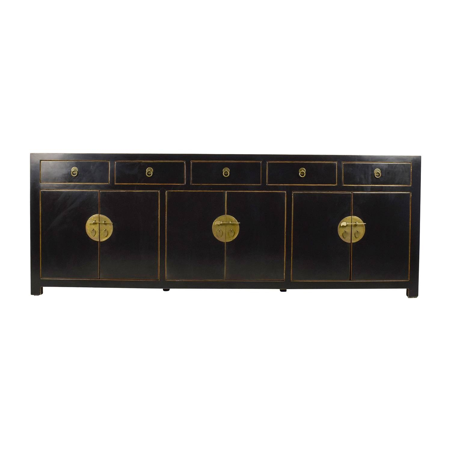 85% Off – Custom Made Black Drawer And Cabinet Sideboard / Storage For Ready Made Sideboards (#5 of 20)