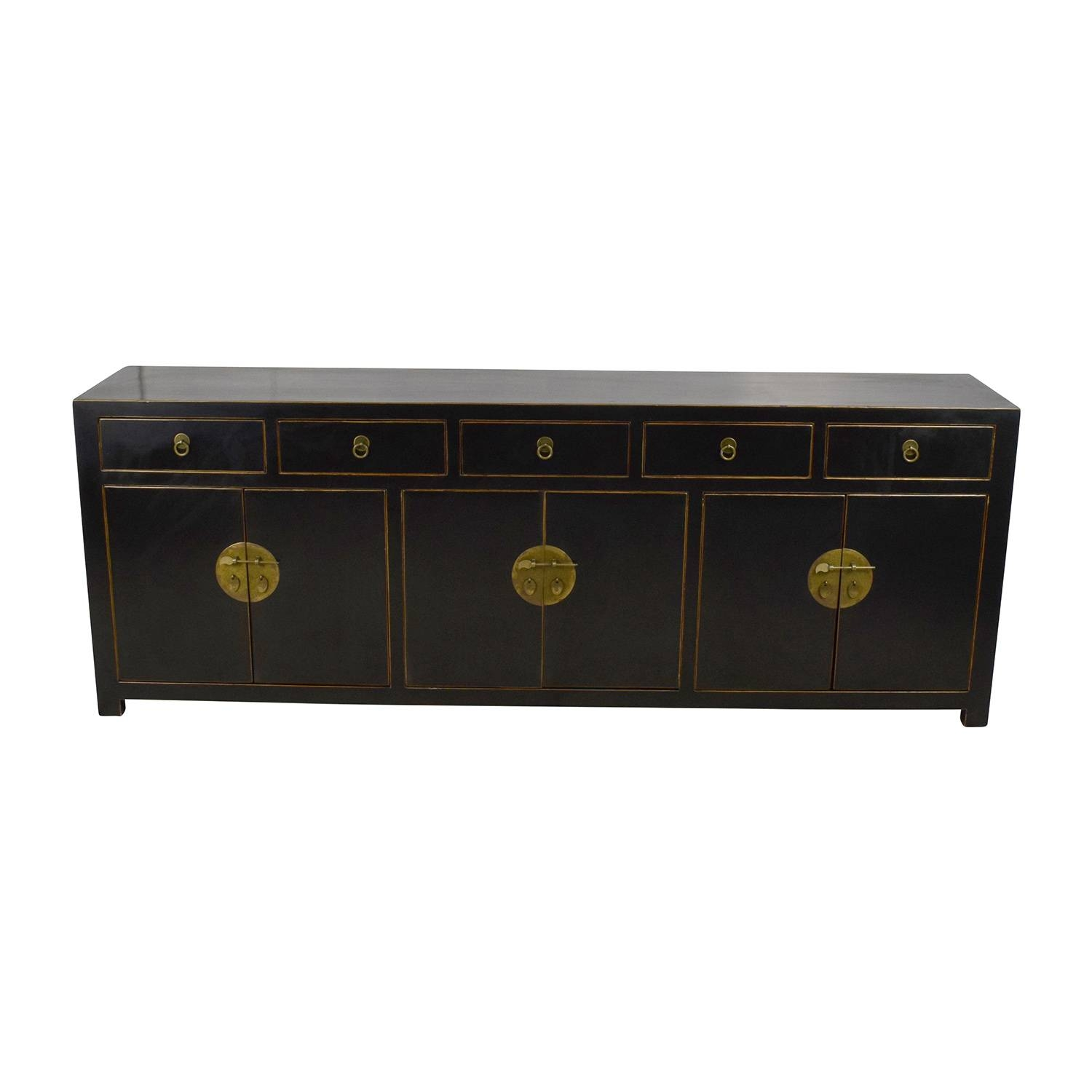 85% Off – Custom Made Black Drawer And Cabinet Sideboard / Storage In Ready Made Sideboards (#6 of 20)