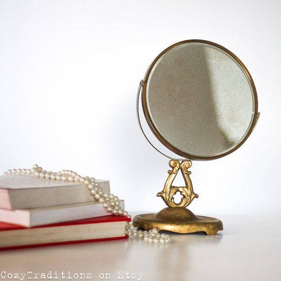 89 Best Vintage Vanity Mirror Images On Pinterest | Mirror Mirror Inside Free Standing Table Mirrors (#5 of 30)