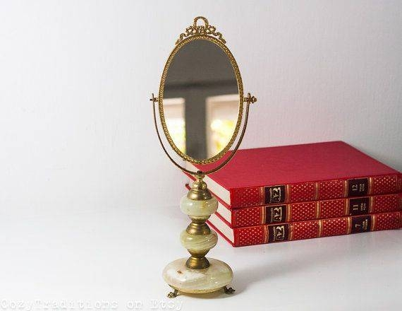 89 Best Vintage Vanity Mirror Images On Pinterest | Mirror Mirror Inside Standing Table Mirrors (#3 of 30)