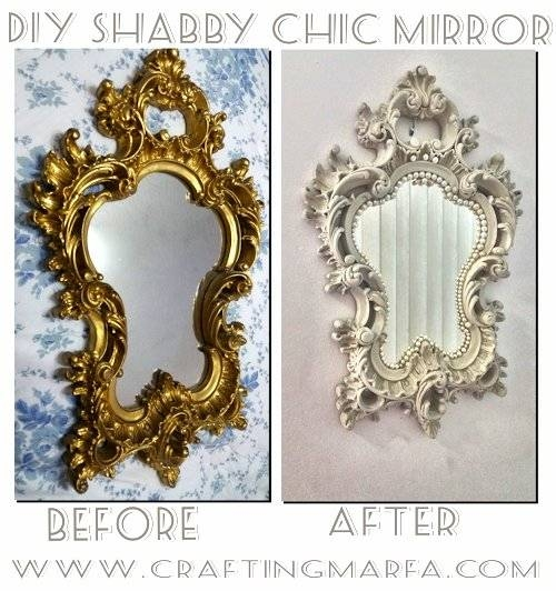 9 Beautiful Diy Shabby Chic Mirrors To Bring The Charm – Shelterness For Shabby Chic Gold Mirrors (#14 of 30)