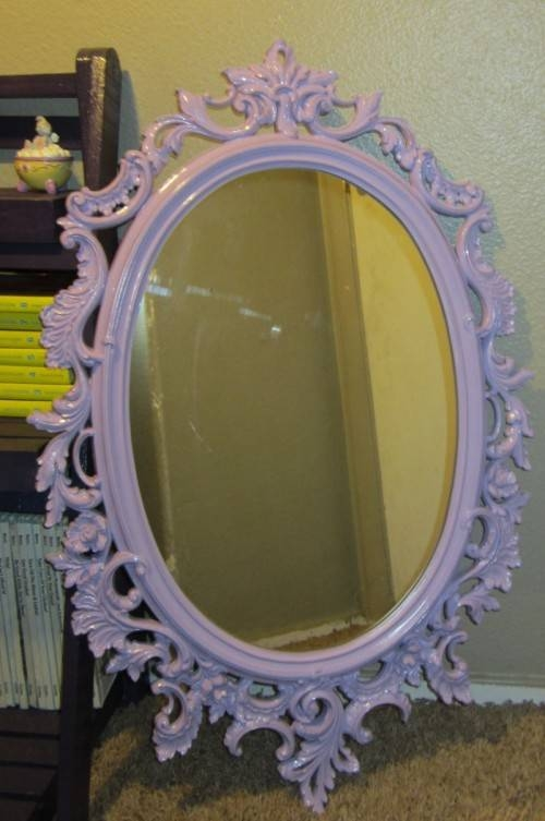 9 Beautiful Diy Shabby Chic Mirrors To Bring The Charm – Shelterness With Oval Shabby Chic Mirrors (View 15 of 20)