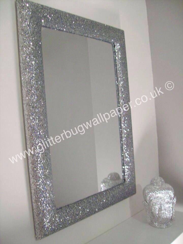 Inspiration about 9 Best Glitter Mirrors – Glitter Wallpaper Images On Pinterest Inside Silver Glitter Mirrors (#14 of 20)
