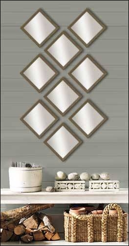 Inspiration about 9 Decorative Mirrors In Brushed Bronze Frame – Framed Canvas Art Within Decorative Mirrors (#20 of 30)