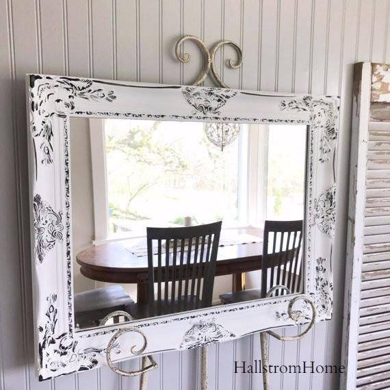 903 Best Shabby Chic Images On Pinterest | Live, Cottage Chic And In Shabby Chic Mirrors With Shelf (#14 of 30)