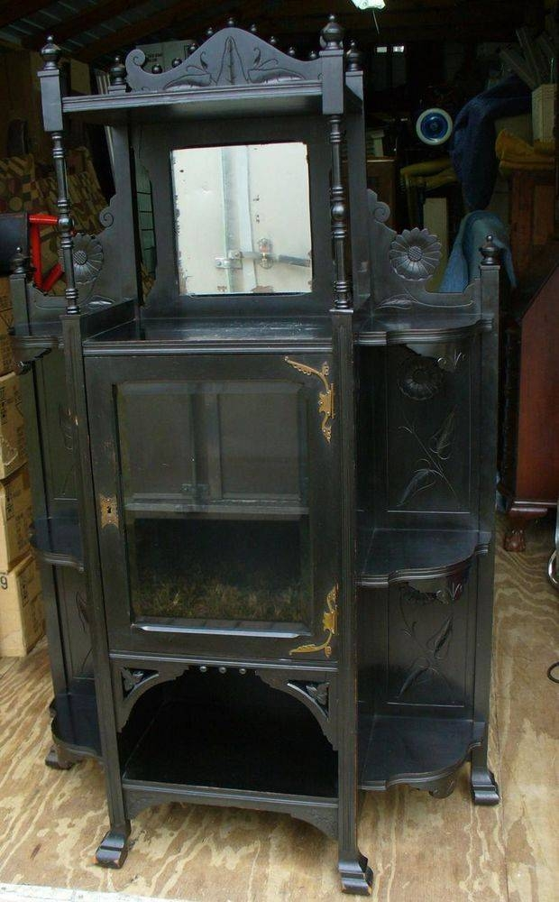91 Best Victorian China Cabinets Images On Pinterest | China Regarding Black Cabinet Mirrors (#1 of 30)